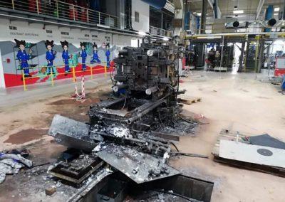 demontáž, likvidace technologie v Klášterci nad Ohří-1