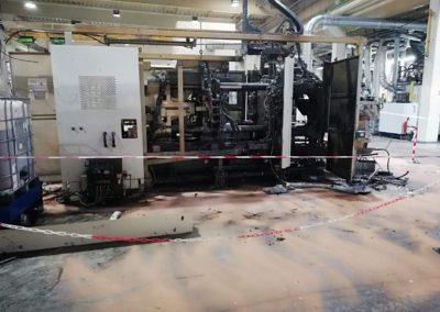demontáž, likvidace technologie v Klášterci nad Ohří