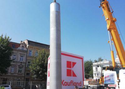 montáž věže Kaufland